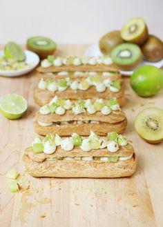 Kiwifruit, Lime, and Coconut Eclairs // FoodNouveau.com