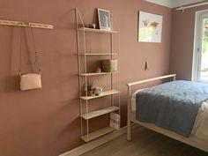 Blush Walls, Wall Colors, Shelving, Warm, Home Decor, Homemade Home Decor, Shelves, Wall Colours, Shelf