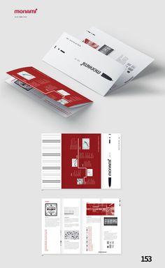 모나미 브로슈어 디자인 - 그래픽 디자인 · 타이포그래피, 그래픽 디자인, 타이포그래피, 그래픽 디자인, 브랜딩/편집 Graphic Design Brochure, Corporate Brochure Design, Company Brochure, Graphic Design Posters, Brochure Layout, Magazine Layout Design, Book Design Layout, Print Layout, Yearbook Pages