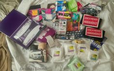 "All mah free samples (since July). I get em in the mail...I can't help it!  I love sending for free stuff. Idk what A 15 year old girl can do with some of this...but....IT'S FREEEE. [Idk why I'm pinning this...] I'll list it in a random order lol: A ring sizer, ""GoPro"" stickers, ""eQuitance"" skin pills,""Nexcare"" 2 water proof band-aids, a ""Children's Miracle Network"" bracelet thingy, Morton's Water tester, (My second) NeliMed bottle, 2 Lavender Breathe Rights,   6 Tena pads, 2 depends (don't…"