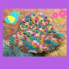 Sweet Spumoni Crochet Baby Sunhat 6-8 months by Maryskisses