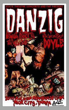 Rare Danzig poster on Etsy at https://www.etsy.com/listing/188700330/danzig-rare-concert-poster-misfits