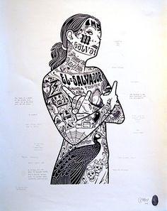 Mike Giant Mike Giant, Various Artists, Art Girl, Graffiti, Stencils, Digital Art, Character Design, Cartoon, Skateboarding