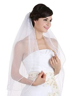 2T 2 Tier Sattin Rattail Cord Bridal Wedding Veil Cathedral Length 108″ Review