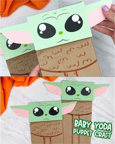 Looking for and easy Baby Yoda craft idea? This brown paper bag Baby Yoda is a great DIY for kids who love Star Wars or Star Wars Kids, Star Wars Baby, Disney Crafts For Kids, Diy For Kids, Camping Crafts For Kids, Manualidades Star Wars, Preschool Crafts, Fun Crafts, Theme Star Wars