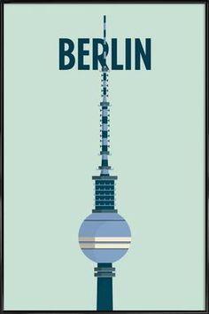 Berlin - Designliga Products - Poster in kunststof lijst
