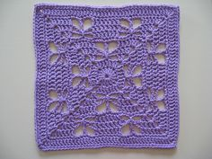 "Day 22: 12"" Block of the Day - Butterfly Garden by Chris Simon  Free Pattern: http://www.scribd.com/doc/136152442/Butterfly-Garden  #TheCrochetLounge #12inch #grannysquare Pick #crochet"