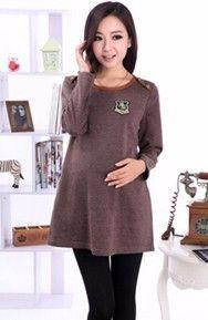 2cf5d338c Aliexpress.com  Comprar 8889   A Cuadros Cuello de la Camisa Suéter Flojo  del Otoño y Ropa de Invierno para Las Mujeres Embarazadas de Maternidad ...