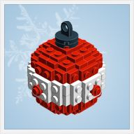 lego ornaments...instruction guide and parts list for each ornament.