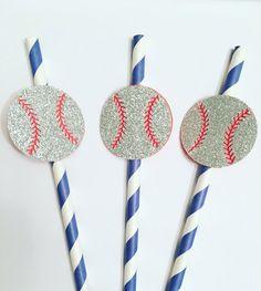 Sports Ball Straws. Baseball Straws. Sports Party. Boy straws. Babyshower. Super Bowl Decor. All Star Party.