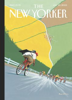 "The New Yorker - Monday, July 25, 2005 - Issue # 4129 - Vol. 81 - N° 21 - Cover ""Tour de Force"" by Bruce McCall"