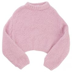 Buy your pink jumper in large knit LALA BERLIN Autumn / Winter on Vestiaire Collective, the luxury consignment store online. Second-hand Pink jumper in large k… Cropped Knit Sweater, Knit Shirt, Crop Shirt, Long Sleeve Sweater, Long Sleeve Shirts, Lala Berlin, Pink Jumper, Pastel Outfit, Outfit Goals