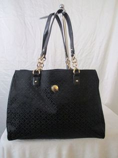 Tommy Hilfiger Black Handbag Purse Authentic Brand New Tags Tote 6930354 990 #TommyHilfiger #TotesShoppers