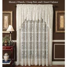 Royal Lace Paisley Window Treatments