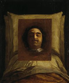 Painting by Unknown Artist in 1725 of Tsar Peter I The Great Alekseyevich Romanov (9 Jun 1672-8 Feb 1725) Russia on his death bed. Located 1941 in The State Museum of Ethnography of the Peoples of the USSR, Leningrad, Russia.