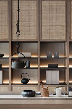 Zen Style, Interior Architecture, Interior Design, Luxury Store, Tea Culture, Cabinet Design, Sofa Furniture, Shelving, Bookcase