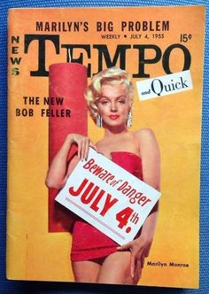 Marilyn Monroe - Tempo And Quick Magazine Cover [United States] (4 July 1955)