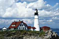 The historic Portland Head Light lighthouse. Or, as I like to call it, where I married the love of my life...