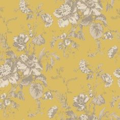 Fleurette Wallpaper in Gold by Arthouse Vintage