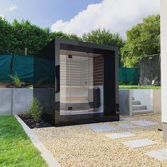 Modern design sauna in aluminium Pool Landscaping, Backyard Pools, Pool Decks, Natural Swimming Pools, Natural Pools, Modern Design, Design Design, Design Ideas, Interior Design