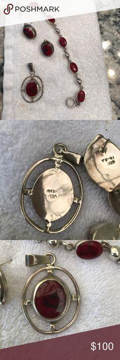 925 sterling silver pendant, earrings, bracelet 925 sterling silver pendant, earrings, bracelet Jewelry