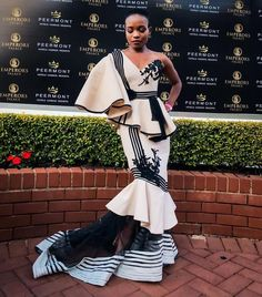 African Print Dresses, African Fashion Dresses, African Dress, South African Traditional Dresses, Traditional Wedding Dresses, African Wedding Attire, African Attire, Xhosa Attire, Shweshwe Dresses