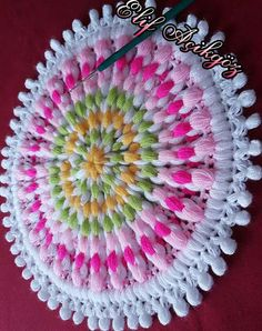 118 Grain Round Fiber Models The Most Beautiful Selected Fiber Ornamented Wind Rose Fiber Mod. Crochet Motifs, Crochet Mandala, Crochet Stitches Patterns, Crochet Designs, Crochet Flowers, Stitch Patterns, Crochet Ruffle Scarf, Puff Stitch Crochet, Easy Crochet Blanket