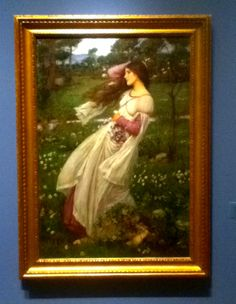 """Windflowers"" by John W Waterhouse, original at Portland, Art Museum"