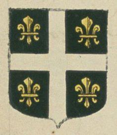 Jean de SAINT-MARTIN, bourgeois de la ville d'Arles. Porte : de sable, à une croix d'argent, cantonnée de quatre fleurs de lis d'or   N° 71