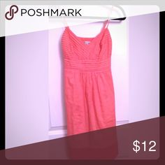 American eagle coral sundress Form flattering with flats or heels. Enjoy! American Eagle Outfitters Dresses