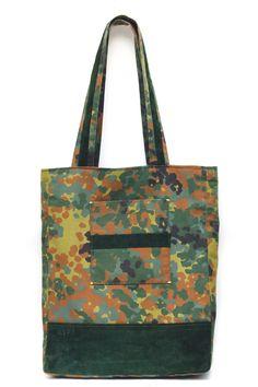Camouflage Tote, handbag, suede, travel tote, pocketbook, handbag, picnic, shoulder bag, accessories, made in NY, carryall, pattern, prints