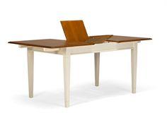 Vintage möbel weiss braun  Lowboard-Cocona-aus-Akazie-in-weiss-braun-mit-2-Schubladen | Möbel ...