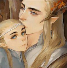 Legolas and Thranduil found on tumbler