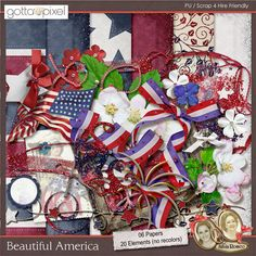 Beautiful America Digital Scrapbook Kit at Gotta Pixel. www.gottapixel.net/