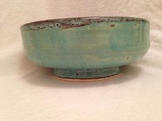Wheel thrown fruit or candy bowl Half stoneware and half porcelain