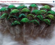 SUMMER SALE Peacock Feathers Cathedral Tons of by CherylsGoodStuff, $4.75 MoreSales&Free Credits Visit http://www.etsyonsale.com/sellers?referralCode=8C8PBF271L