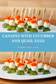 Quail eggs, Canapes and Quails on Pinterest