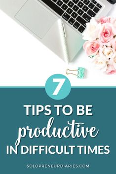 Is your productivity taking a hit? When times are tough, it's easy to procrastinate working on your business. Here are 7 tips that will help you stay productive so that you can grow your business even in difficult times. // Solopreneur Diaries -- #businessmindset #productivity Business Goals, Business Management, Time Management, Business Tips, Online Business, Hours In A Day, Months In A Year, Growing Your Business, Getting Things Done