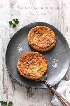 Mini tarte cu ton si porumb - Aperitiv cu peste - Reteta Laura Adamache Iron Pan, Recipes, Mini Pies, Tart, Dutch Oven, Recipies, Ripped Recipes, Recipe