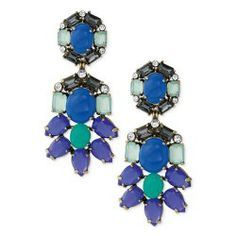 Stella&Dot Estate Peacock Chandeliers Earrings $38.95