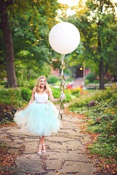 Tulle skirt & balloon by For Like, Ever! Event Styling // Photography by Alex Nardulli // Hair & Makeup by Caity Hawksley