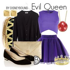 Evil Queen by leslieakay on Polyvore featuring Madewell, River Island, Chicwish, YooLa, House of Harlow 1960, Kate Bissett, Charlotte Russe, disney, disneybound and disneycharacter