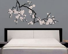 STENCIL - Japanese Cherry Blossoms - Large Branch Stencil for Walls - DIY Home Decor. $39.95, via Etsy.