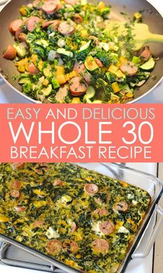 Breakfast Casserole plus The Ultimate List of Whole30 Recipes for Beginners on Frugal Coupon Living. Whole 30 recipe ideas.