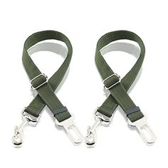 Dog Seat Belt, Harness Car Safety Seatbelt 2 Packs, Adjustable Nylon Strap and Universal Clip For Buckle up Dogs Puppy Cats Pets,Shock Absorbing for Safe Travel - Green Dog Belt, Dog Seat Belt, Seat Belts, Nylons, Road Trip With Dog, Seat Belt Harness, Up Dog, Metal Buckles, Car Accessories