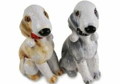 Bedlington Terrier Handmade Salt and Pepper Shaker (5cm x 8cm) by Blue Witch. $48.00. Product Dimensions : 5cm x 8cm. Individually handmade and hand painted. Salt and Pepper Pair. Genuine Blue Witch Ceramic Product. The Bedlington Terrier is built for speed, and was originally bred for badger and rat hunting., the Bedlington Terrier is known for its inquisitive, yet sometimes jealous nature..
