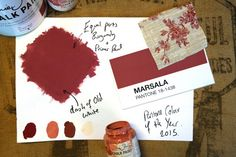 Marsala; the 2015 Pantone Colour of the year! #pantone #decorating #colour