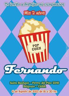 New invitation card for Birthday, etc. Nuevo modelo de invitación apto para Cumpleaños y otros eventos. Disponible en www.elsurdelcielo.com