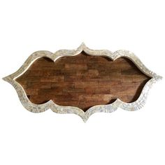 Wood Moroccan Inlay Tray (1,685 SAR) ❤ liked on Polyvore featuring home, kitchen & dining, serveware, trays, moroccan tray, wooden trays, decorative wood tray, wood trays and inlay tray