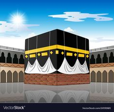 Kaaba mecca saudi arabia vector image on VectorStock Mecca Images, Mecca Masjid, Mekkah, Islamic Posters, Islam For Kids, Invitation Background, Buch Design, Islamic Paintings, Love In Islam